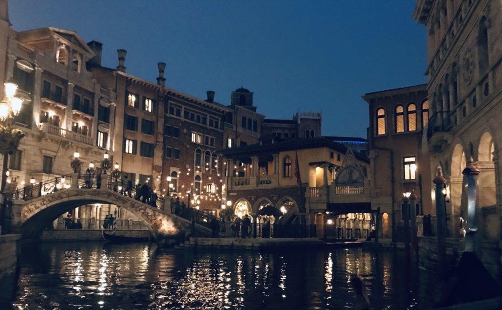 ヴェネチアン・ゴンドラから見た風景