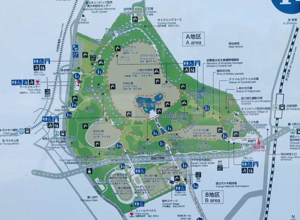 代々木公園MAP