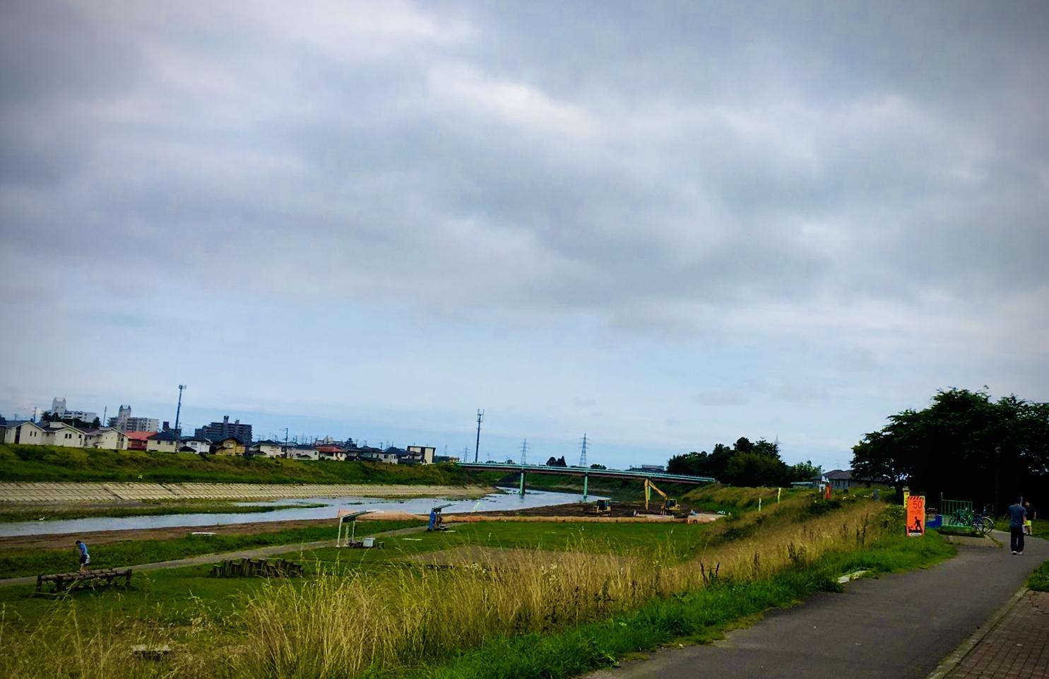 七北田川沿いの様子